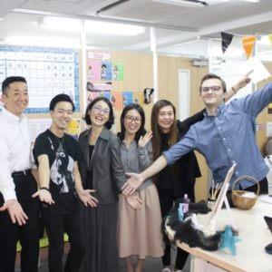 Work in Tokyo - Gotanda school atmosphere